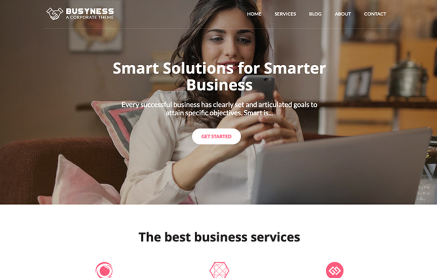 Busyness - 40+ Best Free Business WordPress Themes for 2020