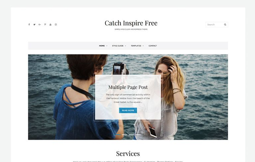 Catch Inspire -40+ Best Free Business WordPress Themes for 2020