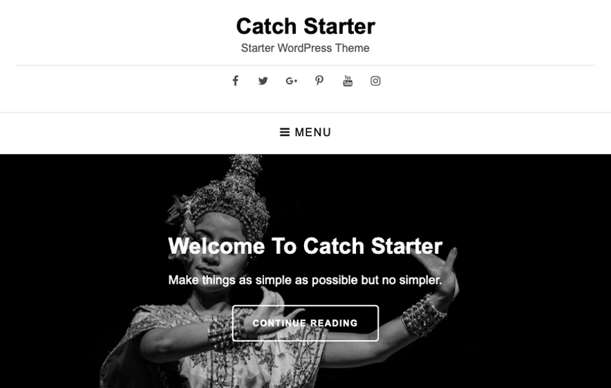 Catch Starter Theme - 40+ Best Free Business WordPress Themes for 2020