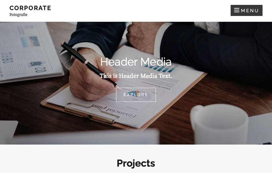 Corporate Fotografie Theme - 40+ Best Free Business WordPress Themes for 2020