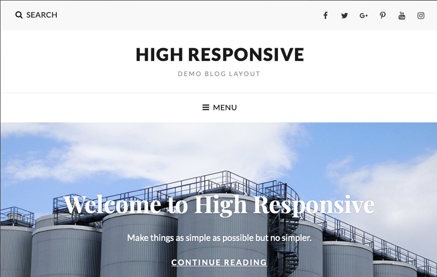 High Responsive Theme -40+ Best Free Business WordPress Themes for 2020