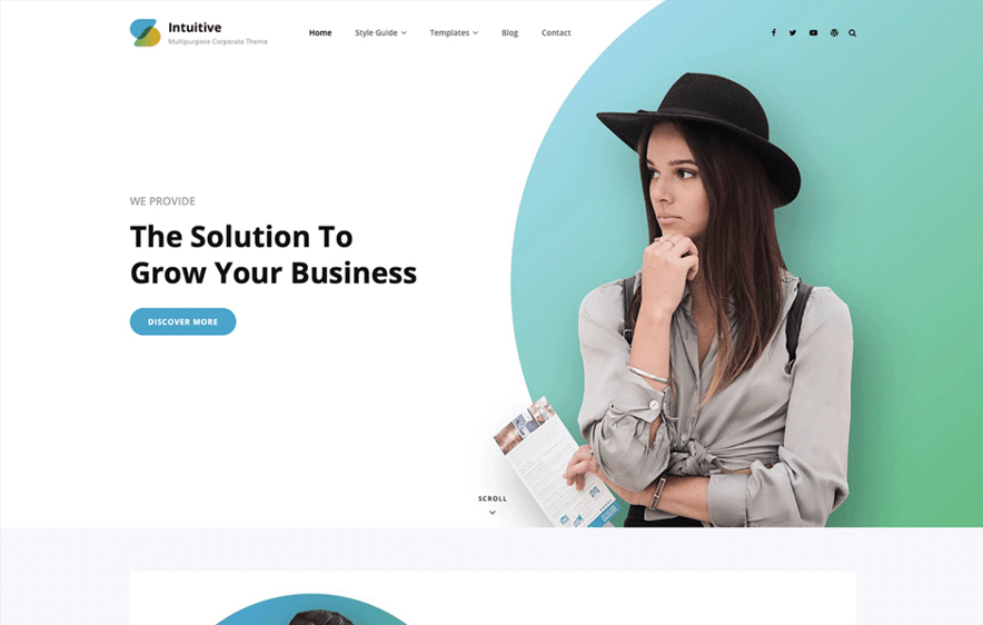 Intuitive -40+ Best Free Business WordPress Themes for 2020