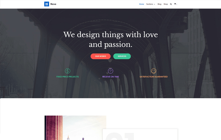 Neve - 40+ Best Free Business WordPress Themes for 2020
