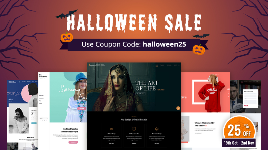 Exciting Halloween 2020 Deals and Offers by Catch Themes main image