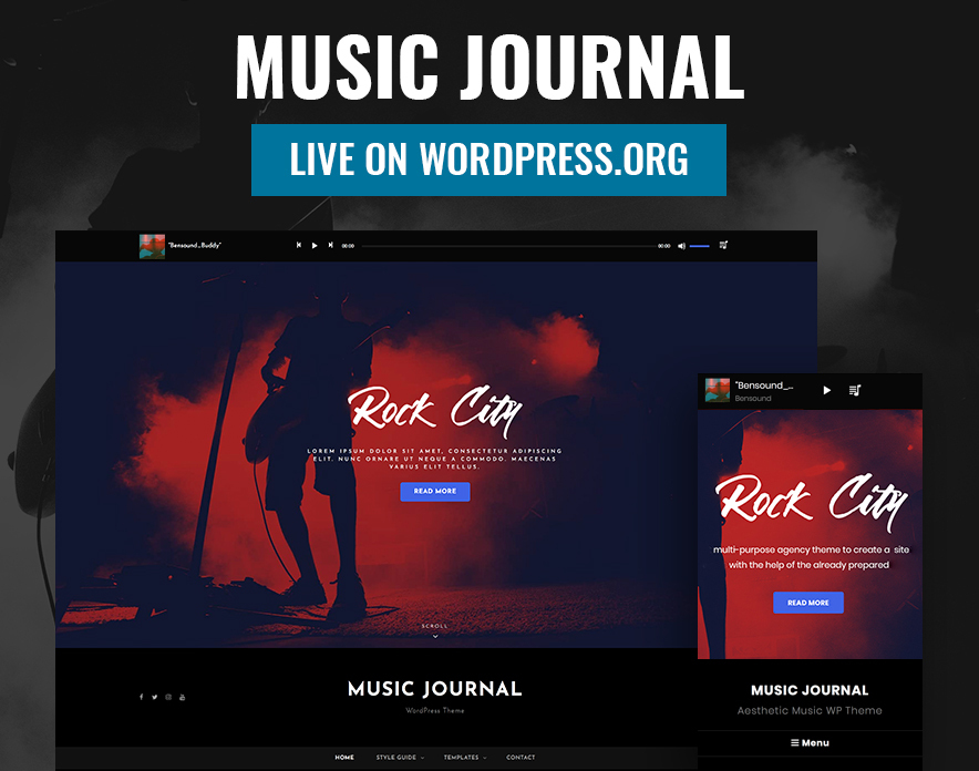Our Music Journal Theme is Now Live on WordPress.org - Best Free Music WordPress Theme