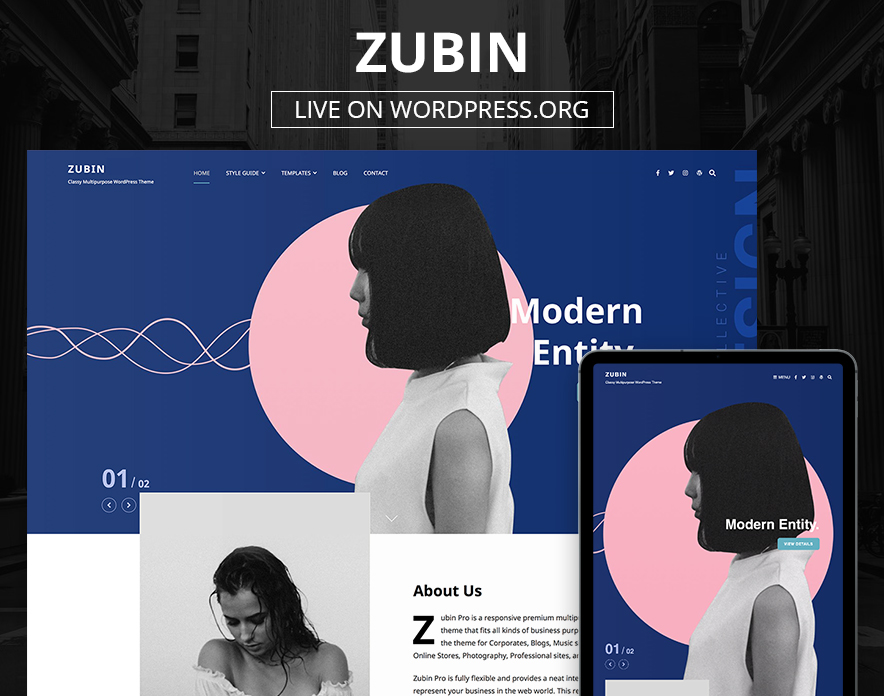 Our Zubin Theme Now Live on WordPress.org main image