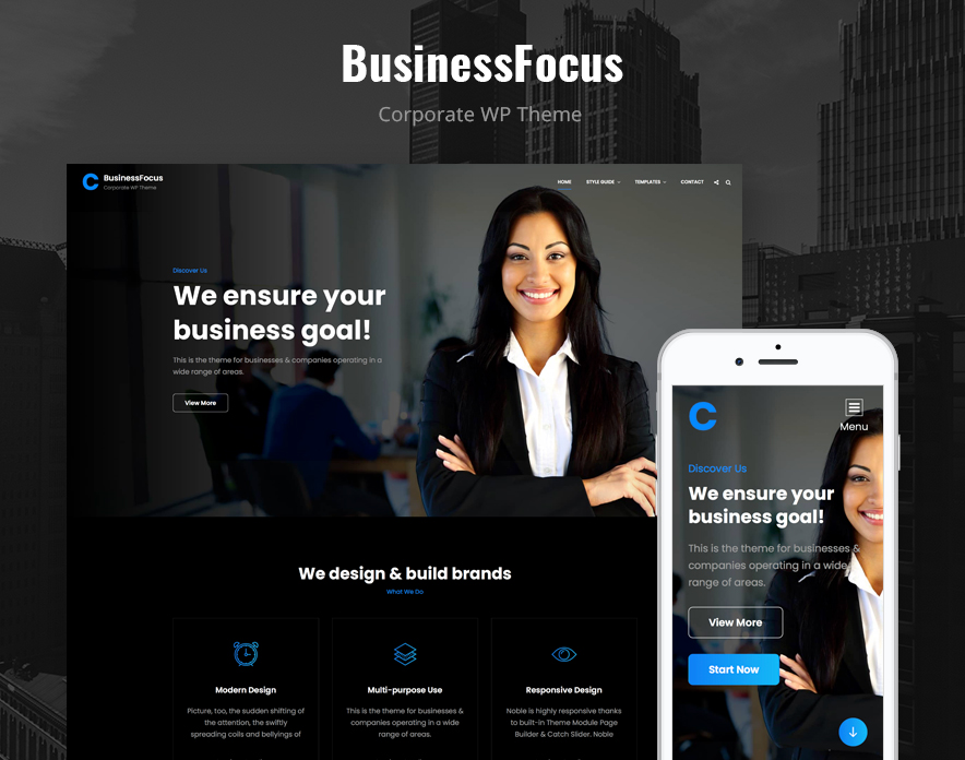 BusinessFocus - A Responsive Business WordPress Theme Main image