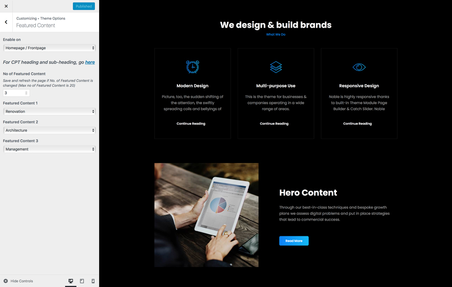 Featured Content in BusinessFocus - A Responsive business WordPress Theme