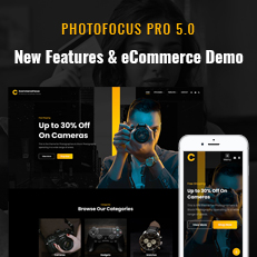 PhotoFocus Pro 5.0 Update Brings New eCommerce Demo with Many New Sections and Features thumbnail
