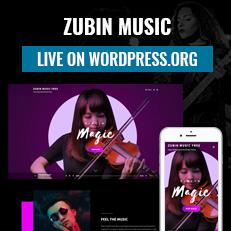 Zubin Music is live on WordPress.org thumbnail