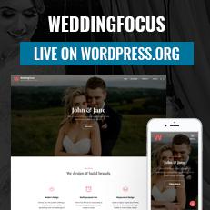 WeddingFocus - A Wedding WordPress Themes is now live on WordPress.org