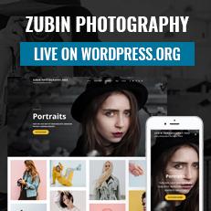Zubin Photography Theme live on WordPress.org - Photography WordPress Theme