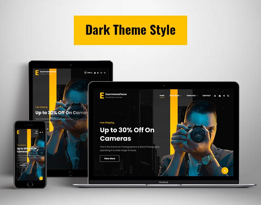 Dark Theme Style in eCommerceFocus