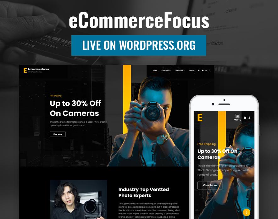 eCommerceFocus - eCommerce WordPress Theme