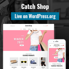 Our latest Catch Shop Theme is now Live on WordPress.org thumbnail