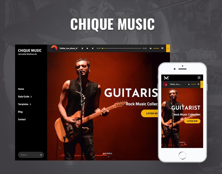 Chique Music - A Dark Music WordPress Theme main image