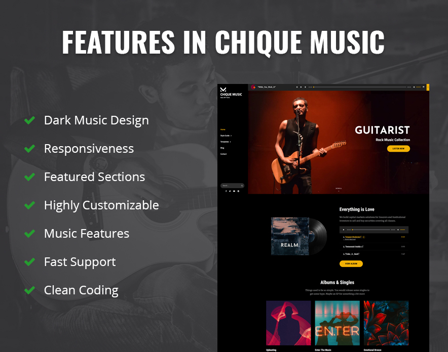 Features in Chique Music