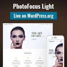 PhotoFocus Light - Light WordPress Theme