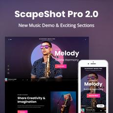 ScapeShot Pro 2.0 - A Dark Music WordPress Theme