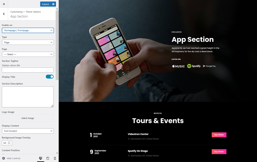 App Section in in ScapeShot Pro 2.0