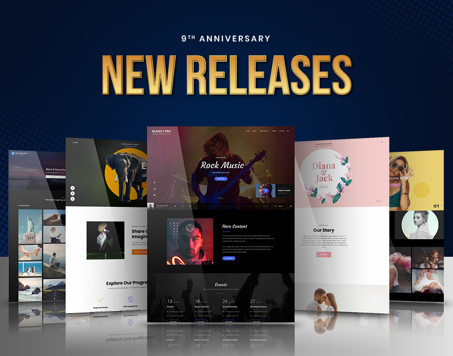Catch Themes 9th Anniversary new releases