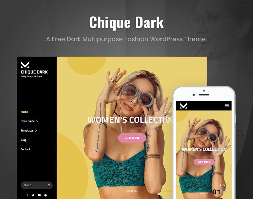 Chique Dark - Dark Music WordPress Theme main image