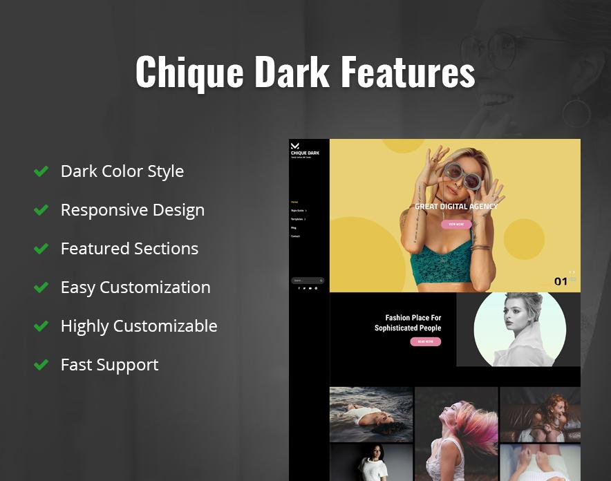 Chique Dark Features