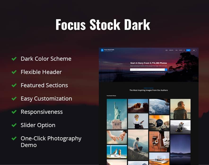 Focus Stock Dark Features image