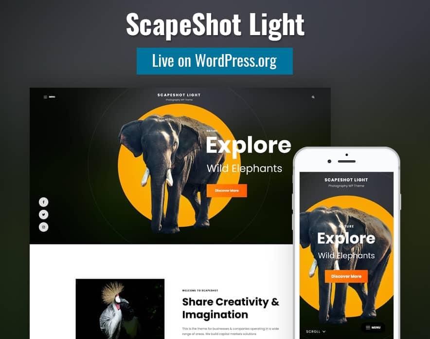 ScapeShot Light Live on WordPress.org main image (1)