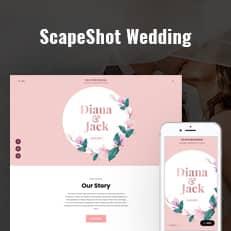 ScapeShot Wedding - Elegant Wedding WordPress Theme